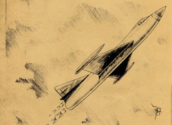Rocket Interceptor artist's concept drawing